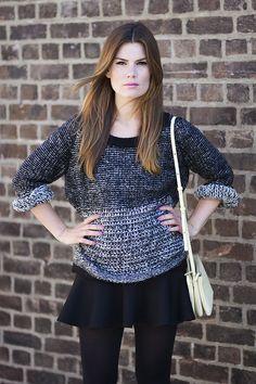 second female knit, viktoria intodust, celiné trio bag, zara skirt