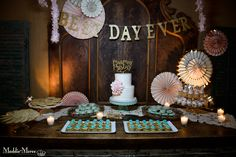 Cake and dessert table design by Southern Event Planners. Photo by Maddie Mooree.