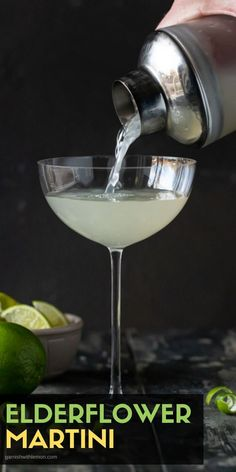 Filled with Vodka, Gin and Elderflower liqueur, this Easy Elderflower Martini recipe will quickly become one of your favorite drinks. It's a smooth sipper that everyone loves! Best Vodka Drinks, Cocktails Made With Rum, Frozen Cocktails, Drinks Alcohol Recipes, Fun Cocktails, Fun Drinks, Beverages, Drink Recipes, Party Drinks