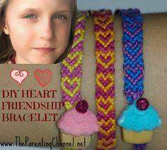 DIY HEART FRIENDSHIP BRACELET -HOW TO MAKE