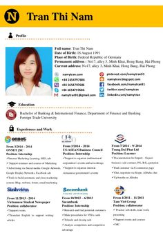 Tran Thi Nam  Full name: Tran Thi Nam  Date of Birth: 16 August 1991  Place of…
