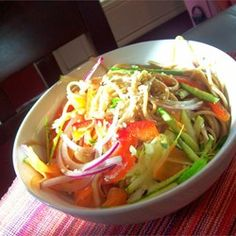 """Cold Szechuan Noodles and Shredded Vegetables   """"I have made this recipe for potlucks, for company, for the family, and for friends. It always gets rave reviews."""""""