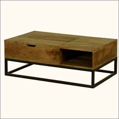 industrial style coffee table with storage - Google Search