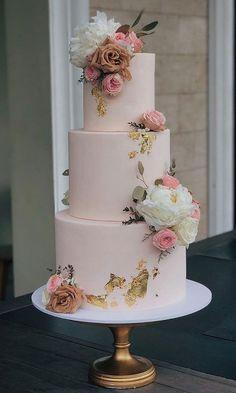 Pretty Wedding Cakes, Floral Wedding Cakes, Amazing Wedding Cakes, Elegant Wedding Cakes, Wedding Cake Designs, Pretty Cakes, Wedding Themes, Beautiful Cakes, Amazing Cakes