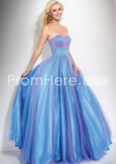 US $142.99 Graceful Ball Gown Floor-Length Strapless Prom Dresses