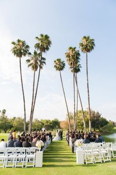 romantic California outdoor wedding ceremony in Buena Park - photo by Candice Benjamin Photography