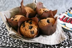Krissy's Creations: Banana Blueberry Wheat Muffins