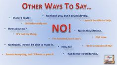 English Education: Other ways to say... No! Διαφορετικοί τρόποι να αρνηθείς στην Αγγλική γλώσσα