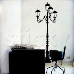 Wall Sticker STREET LAMP by Sticky!!! Witch Store, Beautiful Places To Live, Gothic Home Decor, Gothic House, Street Lamp, Wall Stickers, Wall Murals, Canvas Prints, Wall Decor