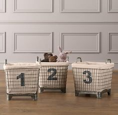 Industrial Baskets & Liners Set of 3  $249