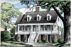 Another William E. Poole Southern Style Home Design is the Port Royal.