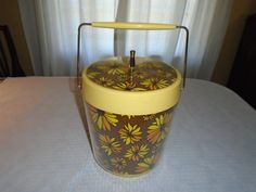Vintage WestBend Ice bucket, Cups and Plates / Ice Bucket / Breakfast plates / coffee cups / Flower Power / vintage 1970's by Montyhallsshowcase on Etsy