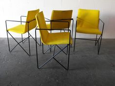 Set of 4 - Wire Frame dining chairs