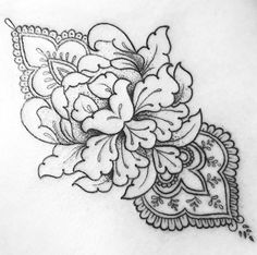 One of Septembers flash designs on a client Flower Thigh Tattoos, Cool Forearm Tattoos, Neck Tattoos, Girly Tattoos, Time Tattoos, Tatoos, Mandala Tattoo Design, Tattoo Designs, Tattoo Sketches
