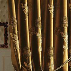 (Dois painéis) michelle luxury® jacquard europeu cortina de poupança de energia – BRL R$ 410,37