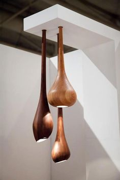 Love these wood lights - Repinned by ZC Woodwork
