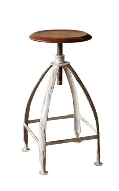 Industrial Metal Adjustable Stool