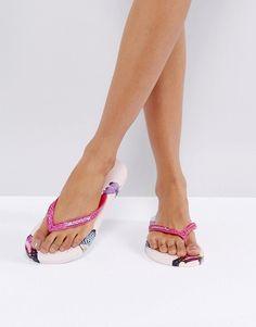 570c9bd21d41 Gandys Slim Line Flip Flops with Butterfly Print - Multi