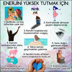 ENERJİNİ YÜKSEK TUTMAK İÇİN: #mistikyol #kişiselgelişim #farkındalık #psikoloji #çekimyasası #düşüncegücü #mutluluk Positive Psychology, Psychology Facts, Self Development, Personal Development, Positive Thoughts, Positive Vibes, Motivation Sentences, Karma, Learn Turkish Language
