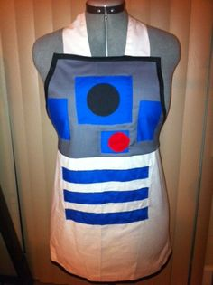 Star Wars R2D2 apron  unisex style by luv2right on Etsy, $15.00