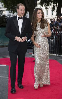 Will & Kate! The Duchess is wearing Jenny Packham