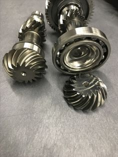Polaris RZR transmission conversion for 2wd showing the modified pinion gear from CryoHeat
