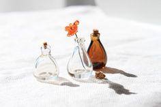 ミニチュアガラス 小瓶セット(クリア&ダークセピア)