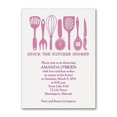 stock the kitchen bridal shower invitation available at persnickety invitation studio