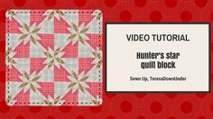 This block is made out of 2 squares of fabric. Yes, just 2 squares of fabric in contrasting fabrics. How to make a quick and easy Hunter's star quilt block Learn how to make a Hunter's …