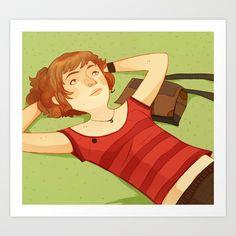 Relax Art Print by Laura Perez Illustration - $19.00