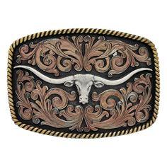 John Wayne Simple Rope Classic Belt Buckle by Montana Silversmith Belt  Buckle Mens, Western Belt a059885dab2