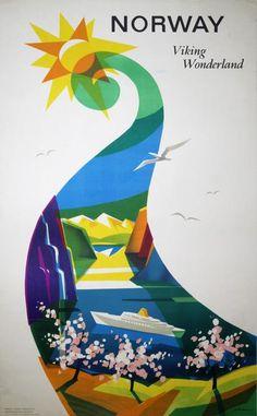 Poster: Norway, Viking Wonderland Artist: Knut Yran (1920-1998)