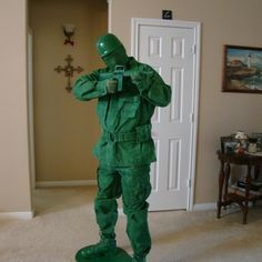 Green Army Man Costume DIY Step by Step instructions
