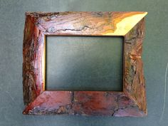 Pine Bark Frame Handmade by JonesFraming on Etsy Easy Frame, Rustic Frames, Country Charm, Picture Frames, Pine, Glass, Pictures, Handmade, Stuff To Buy