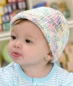 Sweet Baby Hat Knitting Pattern   Red Heart