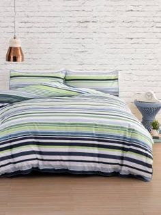The Ryker duvet cover set from Casa Linea features a blend of stripes in narrow and wide widths to bring a modern update to the classic stripe. Spare Room, Duvet Cover Sets, Comforters, Blanket, Bedroom, Modern, House, Stripes, Classic