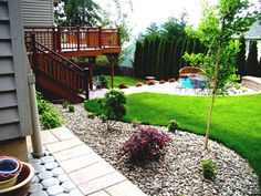 Backyard Landscaping Design With Green Grass Fun Backyard Design Ideas for Your Backyard garden design Backyard Garden Landscape, Small Backyard Gardens, Modern Backyard, Garden Landscape Design, Small Gardens, Backyard Patio, Backyard Ideas, Landscape Designs, Garden Landscaping