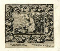 """""""Autumnus Bacchos"""" by Crispijn de Passe after Marten de Vos"""