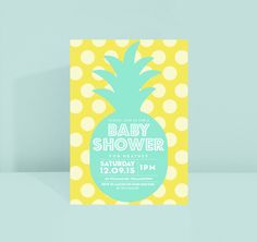 Pineapple Baby Shower Invite Baby Girl Baby Boy by SplendourVendor
