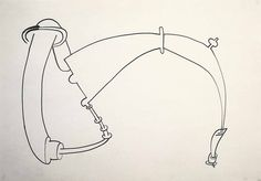 Eva Hesse - No title, 1965 Ink on paper 21 x 29.5 cm / 8 1/4 x 11 5/8 in
