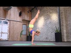 Handstand to Scorpion Pose Yoga Tutorial with Kino Yoga - YouTube