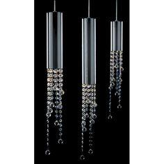 Wisząca LAMPA glamour LARIX MD93708-3A Italux kryształowa OPRAWA zwis crystal chrom przezroczysty