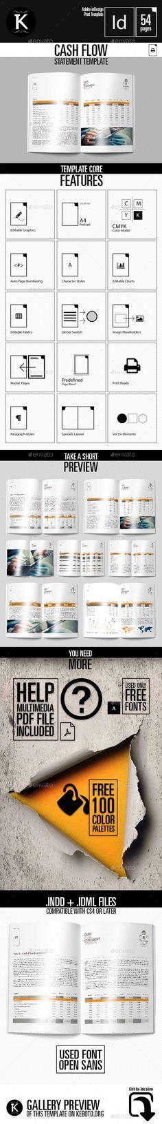 Cash Flow Statement 4 Business Templates Pinterest Cash flow - business statement template