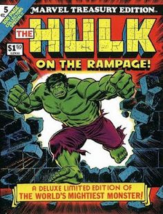 Incredible Hulk Marvel Treasury Edition, cover by John Romita Sr. Hulk Marvel, Hulk Comic, Marvel Comics Superheroes, Marvel Comic Books, Comic Books Art, Comic Art, Spiderman, Hulk Avengers, Dc Comics