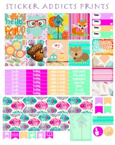 Free Kawaii Fall Weekly Planner Kit | Sticker Addicts Anonymous