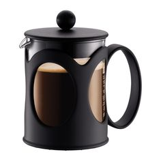 KENYA Coffee maker, 4 cup, 0.5 l, 17 oz, US Black