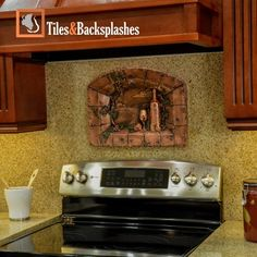 Our collection of Tridimensional Metal Backsplashes murals has been inspired by the Tuscan countryside scenery. Made from original, hand-carved designs and premium metals as copper and nickel.  Our Backsplashes Murals can be wall hung in your dining room, wine cellar, or integrated into a tile backsplash in your kitchen adding a touch of elegance to any space.