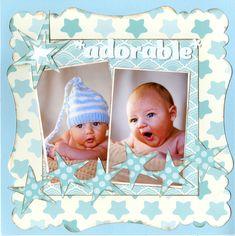 **NEW** Ella & Viv Paper Company - Scrapbook.com - Use NEW Ella & Viv Paper Company paper from the Bundle of Joy Blue collection to document baby photos.