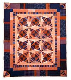 Tobacco Road.  One of 14+ quilt patterns in Marti's book, Kaleidoscope ABCs