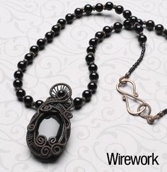 Freeform woven swirls pendant  Maybe someday I can be this good!